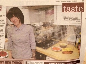 Jack Monroe, 'Chef For Less': Echo & Gazette 31st Jan