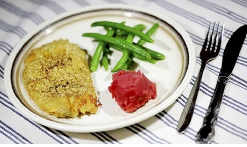 OAT BATTERED KIPPERS WITH BEETROOT MASH
