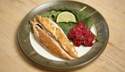 MACKEREL WITH HOT & FAST RHUBARB