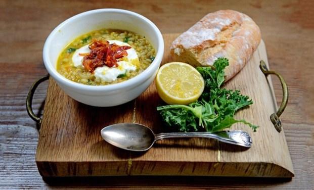 Kale, Barley and Cumin Soup, 37p [VG/V/GF*]
