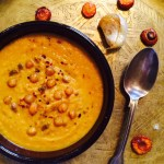 Roasted Carrot, Chickpea & Garlic Soup, 20p