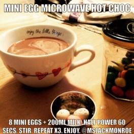 Microwave mini egg hot chocolate