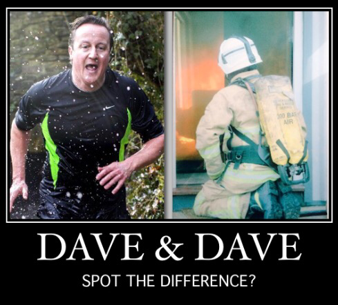 A Tale Of Two Daves (the full response to Cameron thinking he's a firefighter).