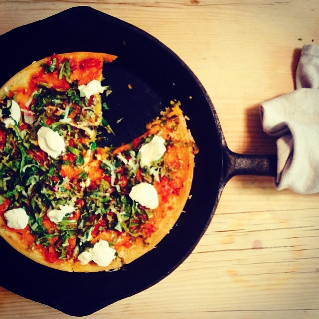 Socca Frying-Pan-Pizza Base recipe by Jack Monroe