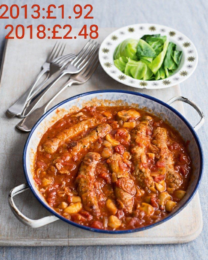 Sausage & Bean Casserole recipe by Jack Monroe